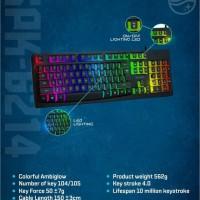Philips K214 PH-SPK6214 Silent Gaming Keyboard Colorful Ambiglow LED
