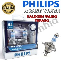 Lampu Mobil Philips RACING VISION H4 12V +150% Made in Poland