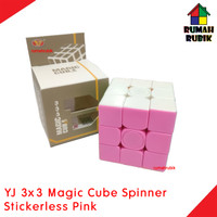 Rubik Spinner 3x3 Yongjun Magic Cube Stickerless Pink / YJ8366SP