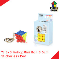 Rubik 3x3 Mini BALL Keychain 3.5cm Finhop Stickerless Red / YJ8396SR
