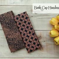 Kain Batik Cap Handmade Coklat Sidomukti & Kawung Coklatan
