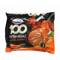 GAGA 100 Extra Pedas Goreng Jalapeno Mie Instant Pedas [85 g]