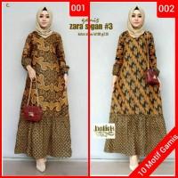 Baju gamis wanita terbaru gamis syari muslim batik allsize jumbo ori