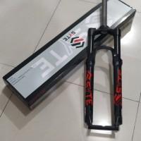 Garpu sepeda MTB 27.5 fork SYTE with lock preload travel 120 alloy