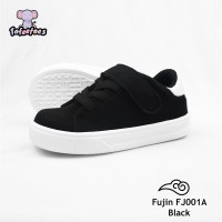 Sepatu anak balita / toddler shoes Sneakers Black FJ001A