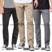 Celana Panjang Reguler Chino/Chinos Pria/Cowok Standard/ No Slimfit