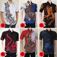 Kemeja Batik Pria Soft Lengan Pendek M L XL XXL