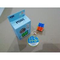 Keychain Rubik 3x3 Mini BALL 3.5cm Finhop Stickerless Red