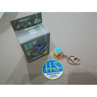 Keychain Rubik 3x3 Mini Bread 2cm Stickerless PINK