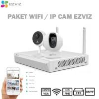 Paket CCTV WIFI NVR dan Camera Ezviz Wireless Cam FULL HD Garansi 720P