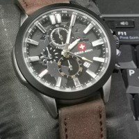 jam tangan pria super premium swiss army leather