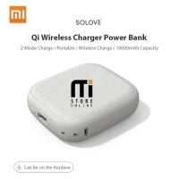 Powerbank Xiaomi Solove Qi Mobile Wireless Charger 10.000 Mah