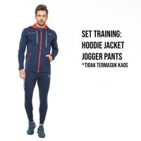 FLEXZONE Set Jaket Jogger - Navy - Gym Fitness Lari Jogging FXS-009DK