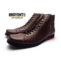 Sepatu Boots Pria Kulit Asli Model Bally Warna Cokelat 310