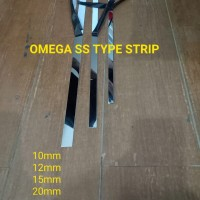 PLAT STRIP MIRROR 20mmx305cm T:0.8mm OMEGA LIST LIS STAINLESS STEEL201