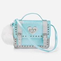 TAS SELEMPANG JUSTICE PEBBLED STUDDED SATCHET CROSSBODY ORIGINAL