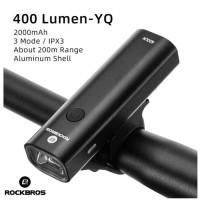 Lampu Sepeda Led Depan Rockbros Recharge Waterproof 400 Lumen Original