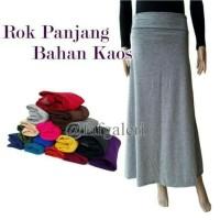 Rok Panjang Wanita Bahan Kaos - All Size #GROSIR polos