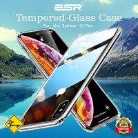 iPhone XS Max Case ESR Tempered Glass Back Soft TPU Original