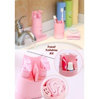 Promo Akhir Tahun! Travel Toiletries Kit Hijau Pink Biru (Yang Sering