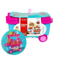 Mainan Anak Play House Ice Cream Cart Trolley Gerobak Kereta Es Krim