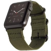 Cakep Tali Jam Apple Watch Premium Woven Nylon Buckle Strap 42mm -