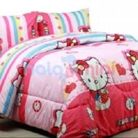 Sprei & Bedcover Katun 120x200x20 - Hello Kitty Apple (pink)