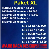 [PROMO] XL Xtra Combo Murah 5GB 10GB 15GB 20GB 35GB & Combo Lite Paket