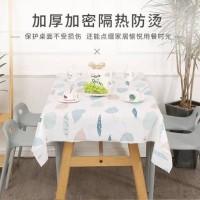 Natural Waterproof Table Cloth / Taplak Meja Makan PEVA Anti Air