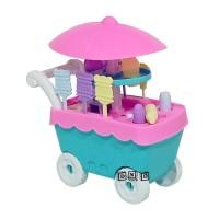 Mainan Anak Mini Shop Ice Cream Cart Trolley Gerobak Es Krim mainan