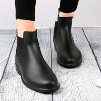 FT Women s Ankle Rain Boots Elastic Chelsea Booties Anti Slip Waterpro