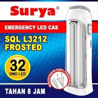 Lampu Darurat LED SURYA SQL L3212 Frosted Emergency Lamp Rechargeable