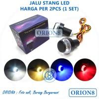 Lampu LED Jalu Stang Motor Sepeda 2 Warna 3 Kabel