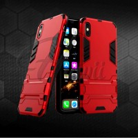 OPPO A37 Neo 9 Slim Ironman Robot Armor Stand Soft Hard Case Casing