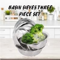Baskom stainless steel 3 Pcs set super tebal Han River/ Mangkuk
