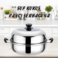 PANCI KUKUSAN /Stainless Steel Panci Sup kukus Hot Pot HAN RIVER