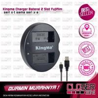 Kingma Charger Baterai 2 Slot Fujifilm X Series - X-A3-X-T20-X-T100