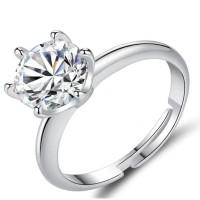 Cincin Casual Berlian Batu Zircon untuk Wanita Ukuran All Size