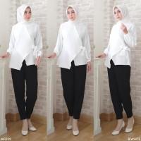 Baju Atasan Wanita Yukata Polos / Blouse Muslim Lengan Panjang Terbaru