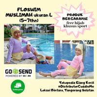 Floswim Muslimah L Pink CuddleMe Baju Renang Anak Perempuan