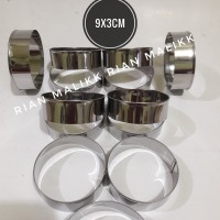 Loyang Roti Burger / Ring cutter Bulat ukuran 9x3 cm Bahan staenless