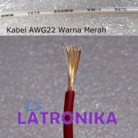 Kabel AWG22 Merah Per Meter 22AWG Cable Kabel AWG 22 AWG Per M