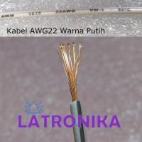 Kabel AWG22 Putih Per Meter 22AWG Cable Kabel AWG 22 AWG Per M