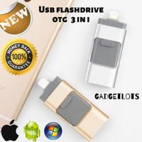 USB otg iphone Flash drive Iphone Flashdisk USB Smartphone 32-128 GB - Hitam, 32 GB