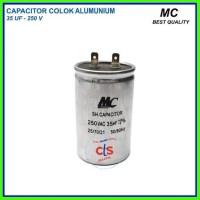 Kapasitor (capacitor) Ac 35 Uf - Aluminium 250 V (spare