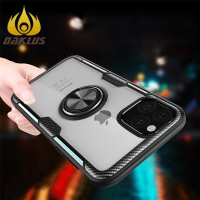 V Magnetic Car Ring Holder Transparent Phone Case for Iphone 11 6 7