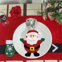 Terlaris Tas Peralatan Makan Motif Kartun Natal untuk Dekorasi Meja