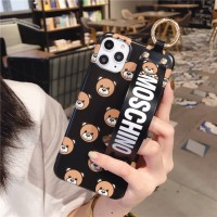F Cute Bear Mobile Shell, Personalized Wrist Strap for iPhone 6 6s 7