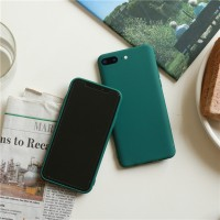 E Dark Green Matte Phone Case For iphone 11 Pro XS Max XR X 8 7 6S 6