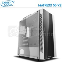 DeepCool MATREXX 55 V2 White Tempered Glass PSU Cover Gaming Case